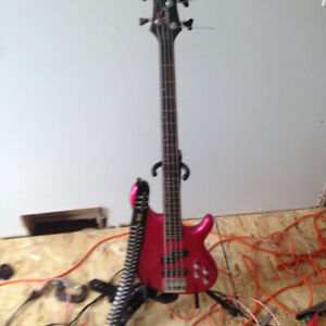 Cort V4 Bass and Fender Rumble 40 Amp with bullet strap