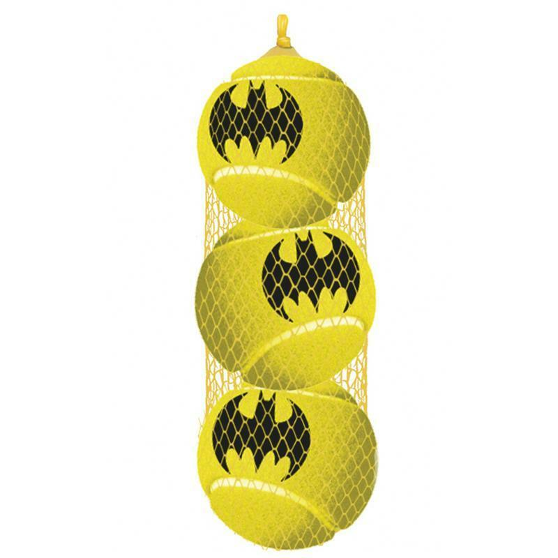 Buckle Down BATMAN Dog Tennis Balls 3 Pack Squeaky Toy