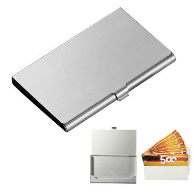 Business Card Holder Metal Box Stainless Steel Storage ID Credit Case Name Card](Name Card Holder)