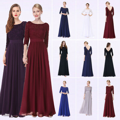 Ever Pretty US Long Mother Of The Bride Dresses Lace Formal Evening Gown 08412 Mother Of Bride Formal Dresses