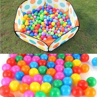 Plastic 100PCS Colorful Pit Balls For Kids Pool Soft Ocean Ball Eco Friendly USA
