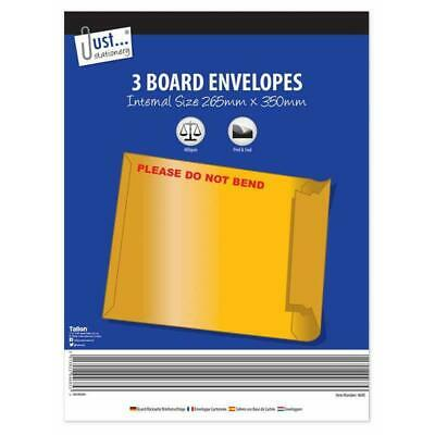 Just Stationery Postal Board Envelopes - Please Do Not Bend Strong Postage Ship