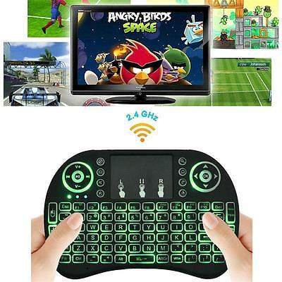 Backlight Led Mini I8 Wireless Keyboard 2 4Ghz Keyboard Remote Control Touchpad