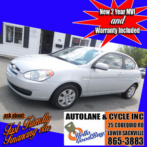 2011 Hyundai Accent Hatchback New MVI Only $4995 Fuel Efficient