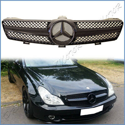 Fit 04-2008 M BENZ W219 CLS350 CLS500 CLS63 Sedan Full Shiny Black Front Grille for sale  Shipping to Canada