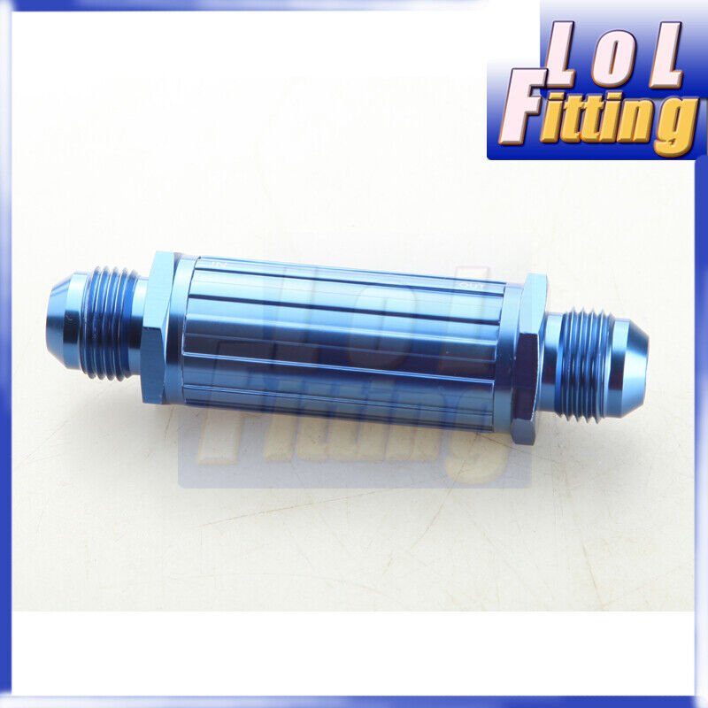 AN-8 AN8 8AN Black Anodised Billet Magnetic Fuel Filter 150 Micron
