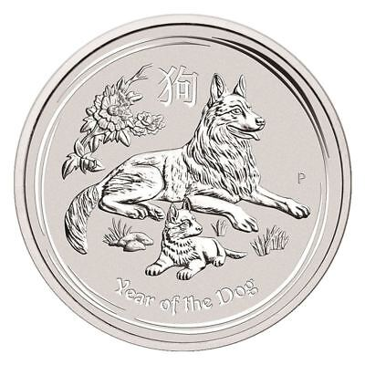 2018 Year Of The Dog 2 Oz Silver Coin   Perth Mint Lunar Series Ii