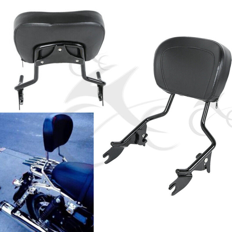 Detachable Backrest Sissy Bar /& Luggage Rack For Harley Touring Road King 09-UP