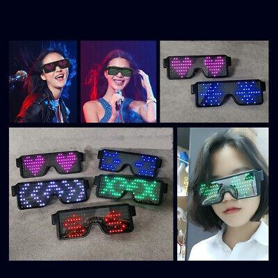 Light Up Sunglasses Rave (US LED Glow EL Glasses Shades Light Up Flashing Blink Sunglasses Bar Party)