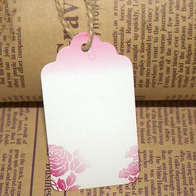 100pcs 40x70mm Bright Colors Floral Jewelry Clothes Price Tags Paper Hang Labels