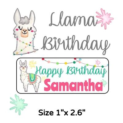 50 Llama Birthday Party Stickers Labels For Goodie Bags Or Favors - Goodie Bags For Birthday Party