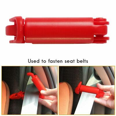 2 x Sicherheitsgurt Clip Gurt Stopper Kinder Autositz Schnalle Gurtschloss Rot (Auto Sitz Stopper)