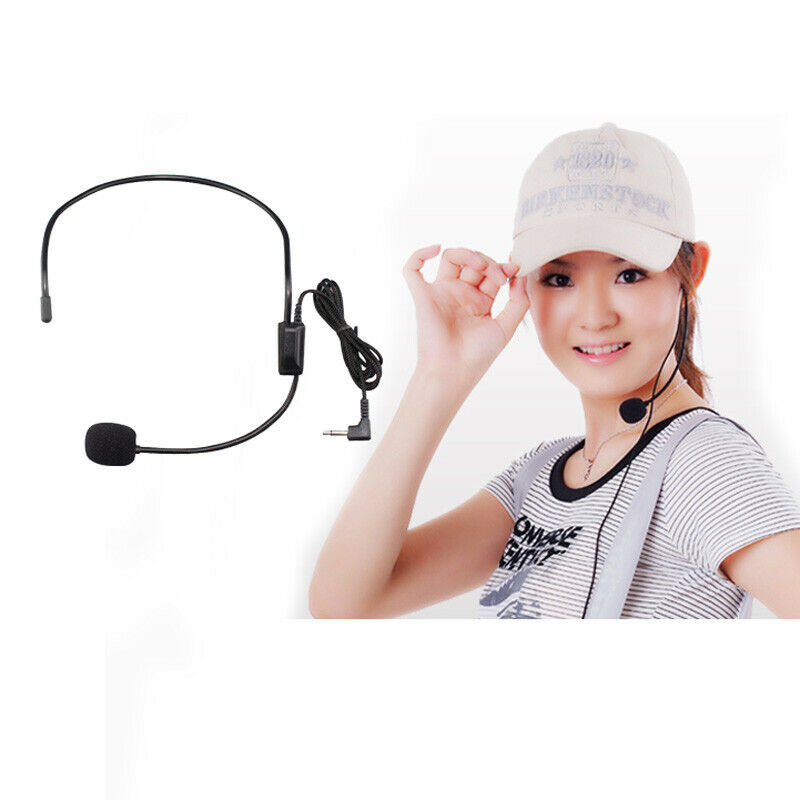 FM Wireless Microphone Headset Megaphone Radio Mic for Louds