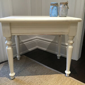 2 Solid Wood  Rustic Farmhouse Shabby Chic End Side Tables