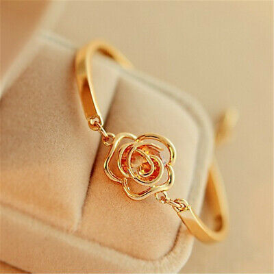 Friendship Bracelet Charm Chain Rose Gold Cuff Handmade Bangle Fashion Jewelry Gold Handmade Bracelets