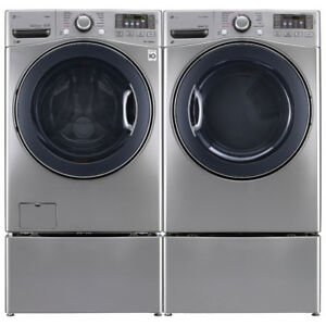 "LG WM3770HVA 27"" Front Load Washer With 5.2 cu.ft. and Dryer"