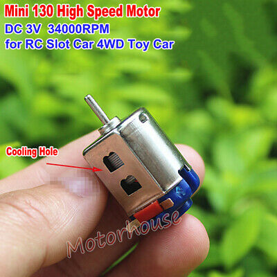 Mini 130 Motor High Speed Dc 3v 34000rpm Rc Racing Slot Car 4wd Engine Diy