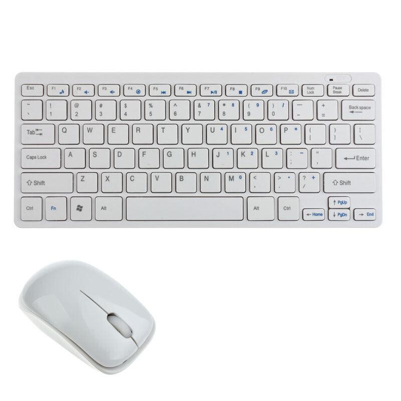 KIT TASTIERA E MOUSE MINI WIFI WIRELESS PER PC 2.4GHz KEYBOARD USB SENZA FILI EM
