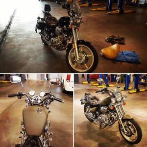 Yamaha Virago 1100 prêt pour la saison! Sacoche INCLUS 1300$