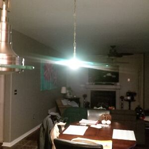Multiple Brushed Stainless and Glass Light Fixtures Cambridge Kitchener Area image 7
