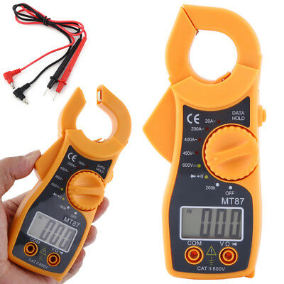 Portable Clamp Meter Digital Acdc Ohm Trms Amp Tester Capacitance Multimeter