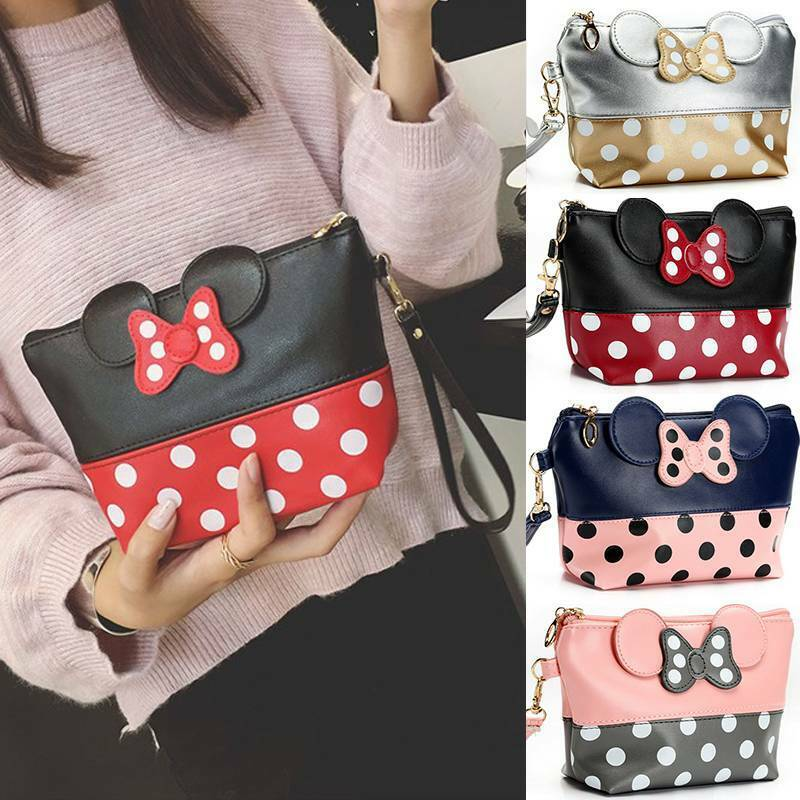 Minnie Mouse Cosmetic Makeup Bags Women Girl Toiletry Bag Tr
