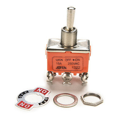 New Auto Car Boat 6 Pin 15a Car Tip Toggle Dpdt On-off-on Switch 12v 220 -250 Kw