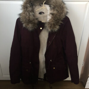 H&M Burgundy Winter Jacket