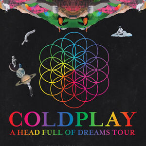 2 tix - Coldplay Rogers Place - Awesome seats