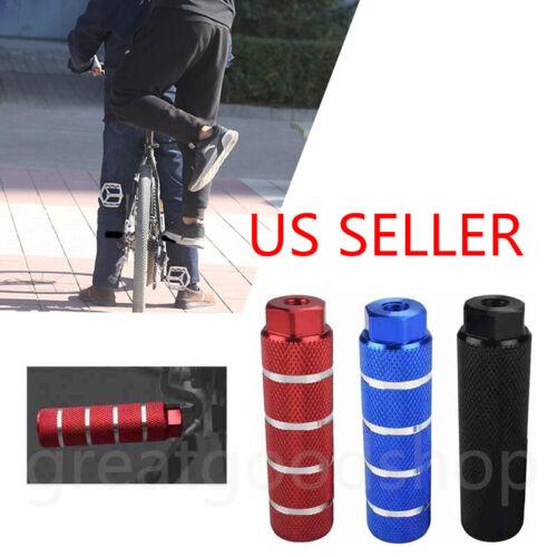 2pcs MTB BMX Bike Alloy Foot Stunt Pegs Footrest Lever Cylinder Grip 3/8
