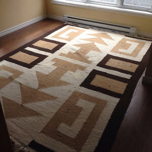 Large Tribal Wool Rug Hand Made In Africa