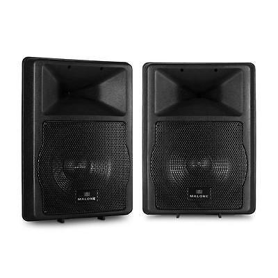 DJ PA STUDIO AKTIV LAUTSPRECHER PAAR SET 2x MONITOR BASS ABS BOX 1100W SOUND