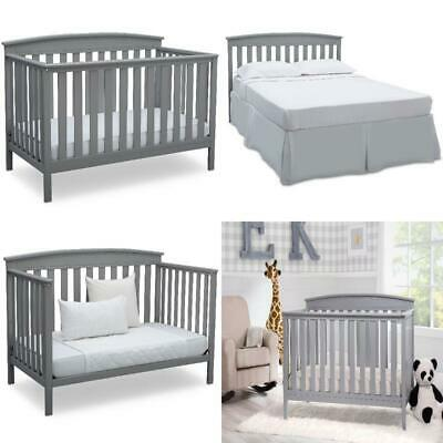 Adjustable Baby Crib 4 in 1 Convertible to a toddler bed Non-toxic Materials NEW