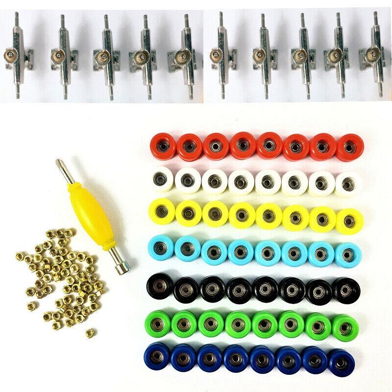 Lot20 Rubber Bushings 20 Nickel Washer For Fingerboard Skateboard Trucks Tools