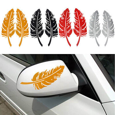New Feather Design 3D Decoration Sticker For Car Side Mirror Rearview Wholesale