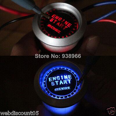 12V  BLUE Car Auto Universal  Engine Button Push Starter Power Switch Kit  Uk