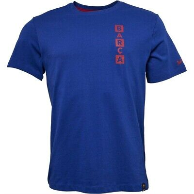 Nike Mens FCB Barcelona Story To Tell Deep Royal Blue/Noble Red RRP...