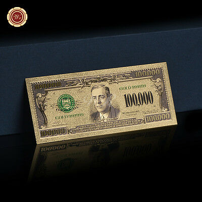 WR $100,000 Dollar Bill Collectible Gold US Money Novelty Banknote Xmas Gifts](Xmas Novelties)