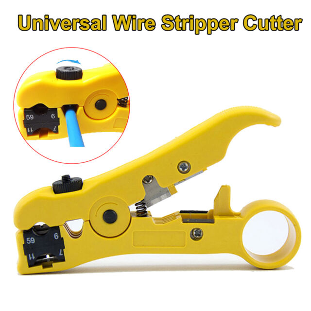 MT-505 Coaxial Cable Stripping Wire Stripper Cutter Cat5 Cat6 Pro Handle Tool