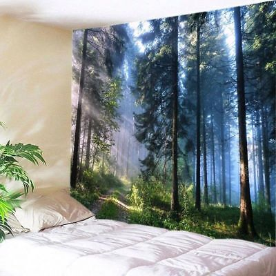 Frondent Forest Tapestry Room Wall Hanging Art Print Tapestry Home Wall Decor US Art Deco Wall Hanging