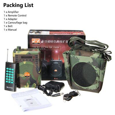 48W Hunting Speaker Bird Caller Predator Sound Caller MP3 Player+Remote Control