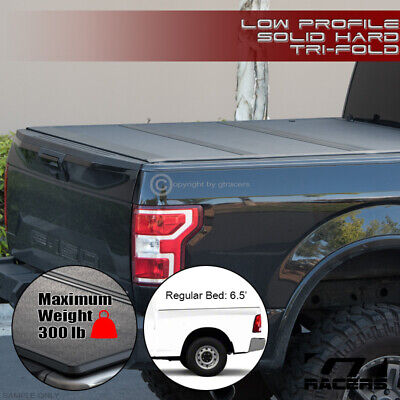 For 2009-2019 Dodge Ram 6.4/6.5' Bed Low Profile Hard Tri Fold ABS Tonneau Cover
