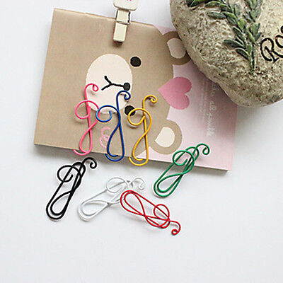 10Pcs Colorful Musical Note Paper Clips Stationary Office Supplies Random Color](Musical Note Paper)