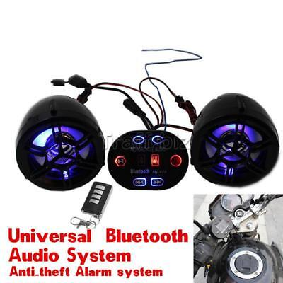 Motorcycle Bluetooth Audio Radio Sound System Stereo Speakers MP3 FM Waterproof