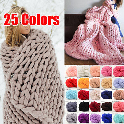 250g Chunky Wool Yarn Super Soft Bulky Arm Knitting Wool Roving DIY - Yarn Crafts