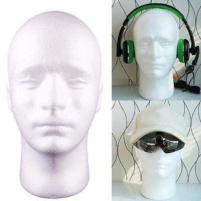 Styrofoam Male Head Stand Model Wig Hats Holder Glasses Foam Mannequin Rt1 Us