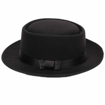Damen Herren Cool Klassiker Jazz Huete Fedora Trilby Hut Blower Huete mit Bow S2 (Coole Hüte)