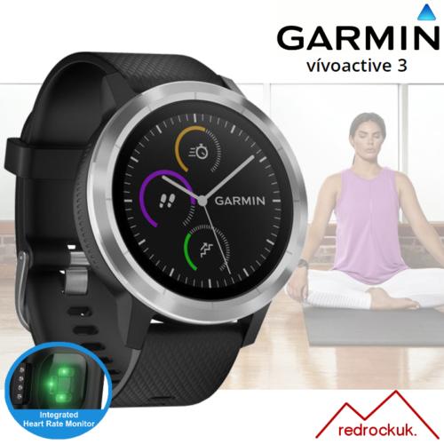 Garmin Vivoactive 3 GPS Multi Deporte Smartwatch con Integrado Hrm Negro/Plata