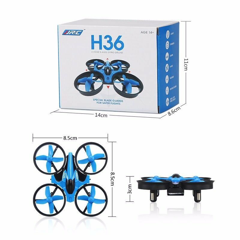 JJRC H36 2.4G 4CH Drone 6-axis Gyro 3D-Flip Headless Mode Mini RC Quadcopter RTF