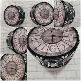 Large bass drum clock